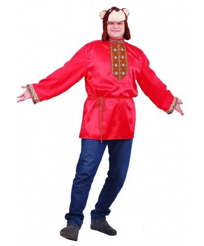 Взрослый костюм Медведь Наумыч: рубаха, шапка (Россия)