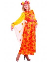 Взрослый костюм Осень Рябинушка: платье, венок, пояс (Россия)