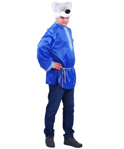 Взрослый костюм Волк Афанасий: рубаха, шапка (Россия)
