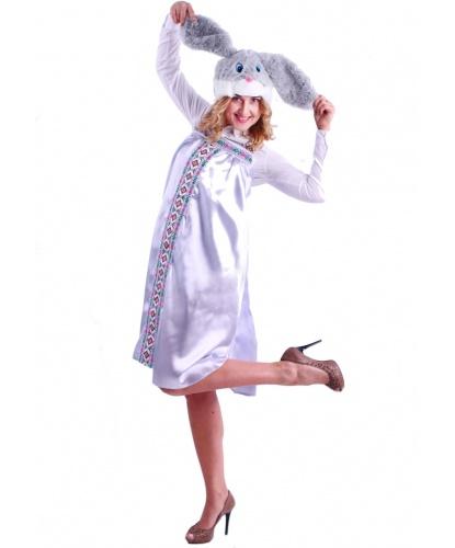 Взрослый костюм Зайка Варвара: сарафан, шапочка (Россия)