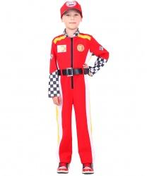 Детский костюм Гонщик: комбинезон, ремень, кепка (Россия)