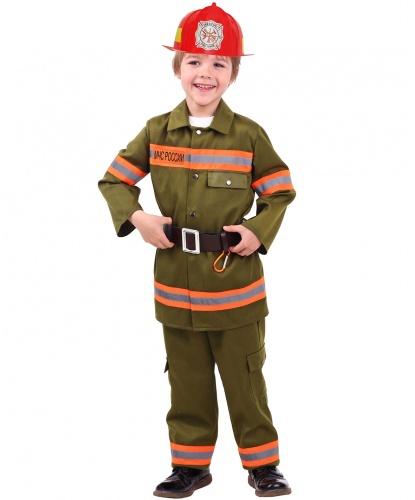 Детский костюм Пожарный: куртка, брюки, каска, ремень (Россия)