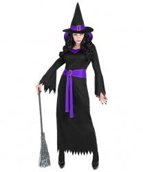 Черное платье ведьмы с колпаком