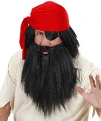 Черный парик и борода