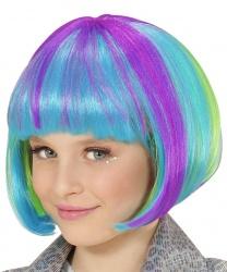 Детский парик разноцветное каре