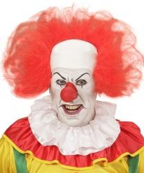 Красный парик клоуна с лысиной