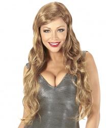 Длинный светло-коричневый парик