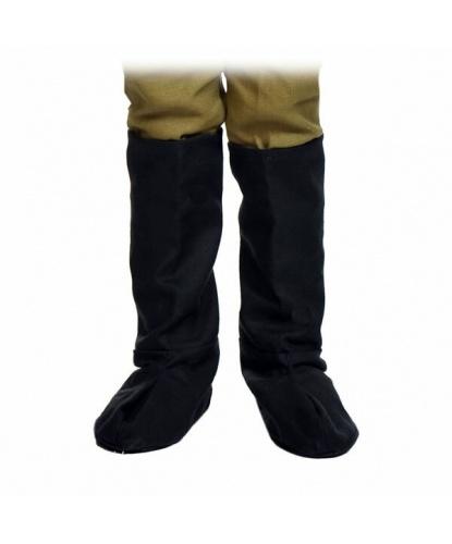 Военные детские сапоги , цвет черный (Россия)