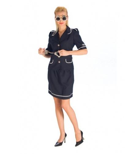 Взрослый костюм полицейской: пиджак, юбка (Германия)