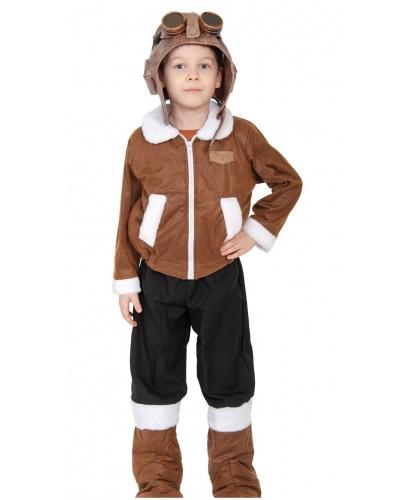 Детский костюм Летчик полярный: шлем, куртка, брюки с унтами, очки (Россия)