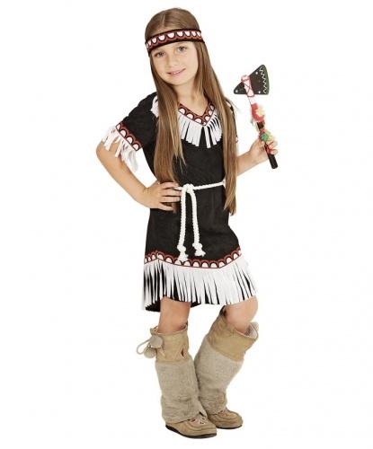 Платье для маленькой индианки: платье, повязка на голову, пояс (Италия)