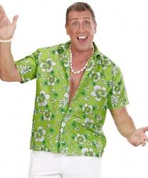 Зеленая гавайская рубашка