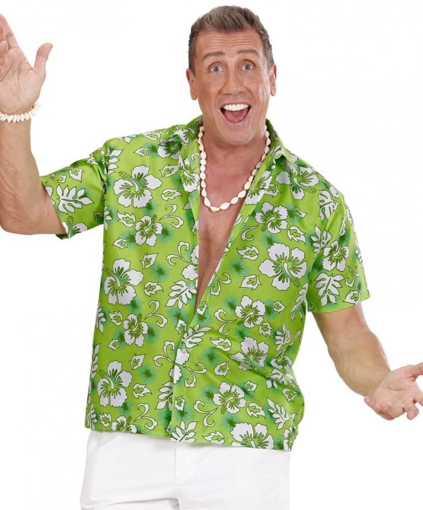 Зеленая гавайская рубашка: рубашка (Италия) купить в Рыбинске