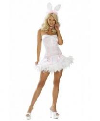 Купить взрослый эротический костюм зайки: платье, ушки (Китай)