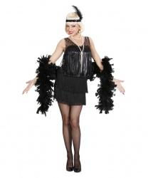 Черное платье в стиле 20-х годов