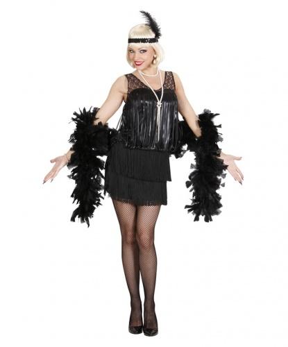 Черное платье в стиле 20-х годов: платье, головной убор (Италия)