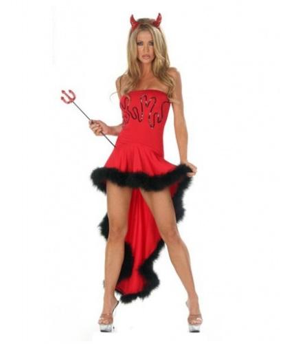 Красное дьявольское платье: платье (Китай)