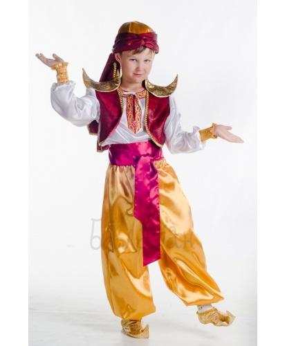 Костюм Аладдина: рубаха, шаровары, пояс, жилет, чалма, имитация обуви (Украина)
