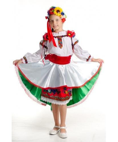 Детский костюм украинки Даринки: юбка, блузка, пояс, венок (Украина)