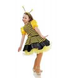 Костюм пчёлки с юбкой-пачкой: блуза, юбка-пачка, рожки (Украина)