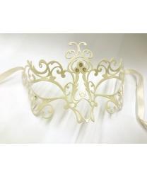 Венецианская маска белая Bocciolo, металл (Италия)                                       Высота 8.5 см.