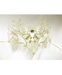 Белая венецианская маска Farfalla