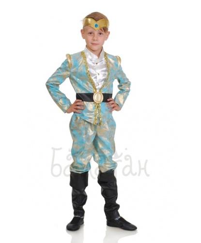 Костюм эльфийского принца: куртка, брюки с имитацией сапог, головной убор (Украина)