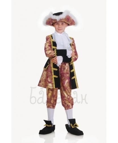 Костюм знатного принца: камзол, брюки, шляпа, жабо, имитация обуви (Украина)                                                         Окружность шляпы 56 см