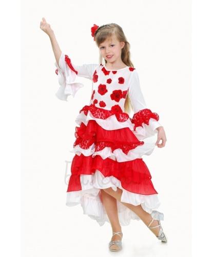 Костюм испанский : платье, цветок на заколке (Украина)