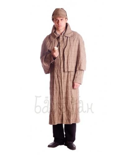 Костюм Шерлока Холмса : плащ, головной убор, трубка (Украина)