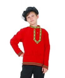 Народная льняная рубаха для мальчика: рубашка (Украина)