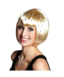 Парик-каре со стразами блонд