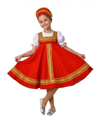 Национальный костюм для девочки Иванна: сарафан, кокошник (Украина)