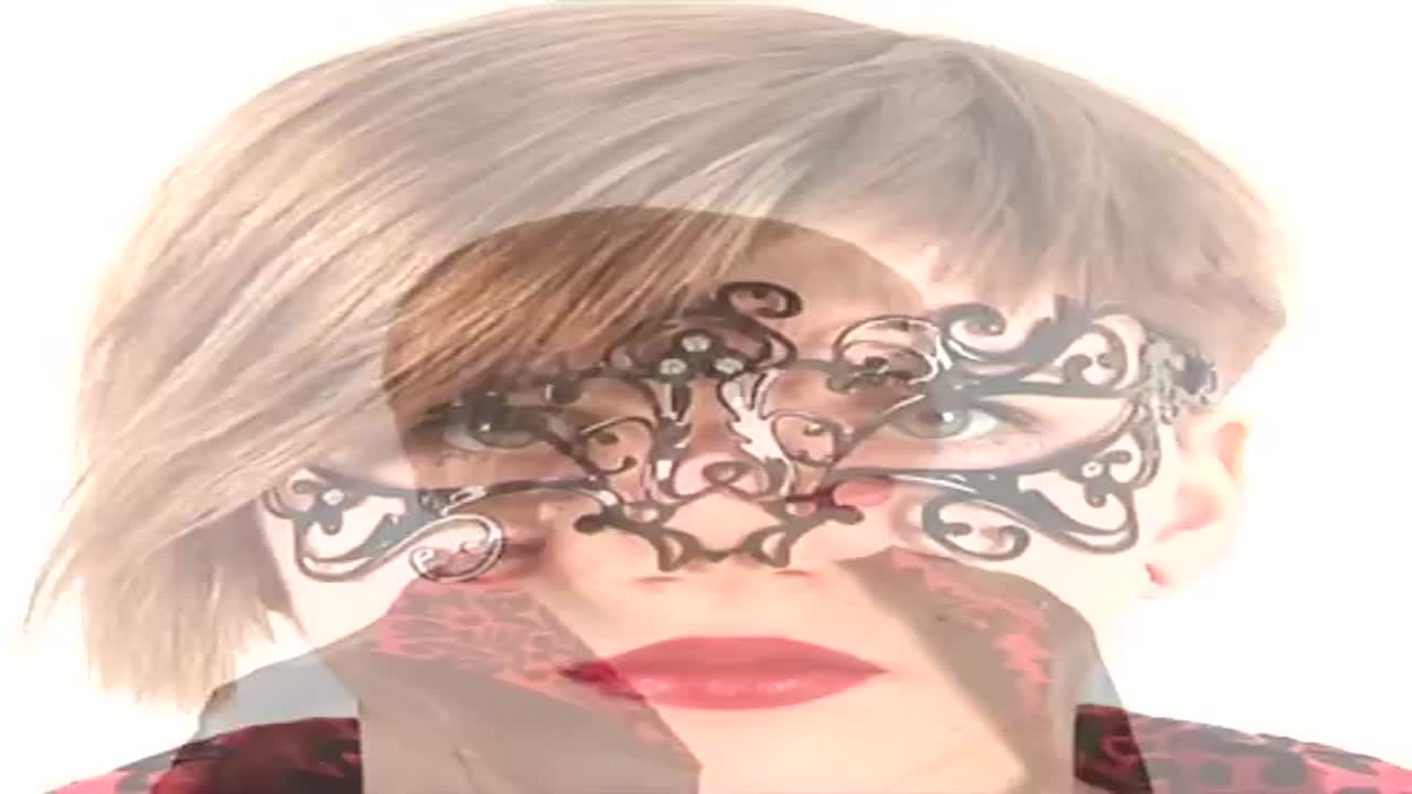 Венецианская маска черная Bocciolo