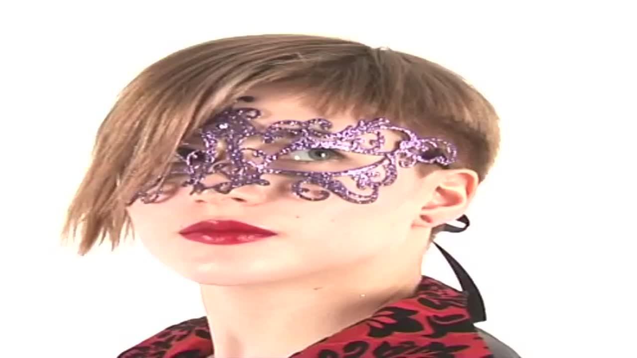 Венецианская маска розовая Bocciolo