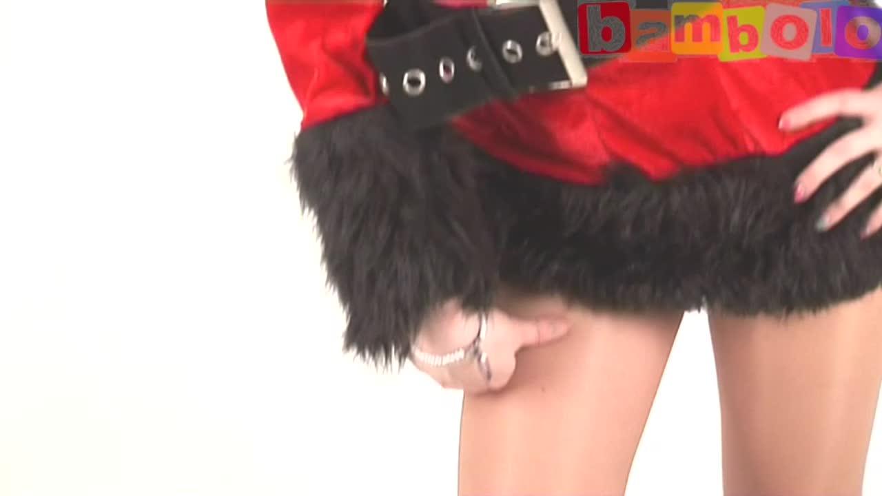 Красный с черным новогодний костюм Санты