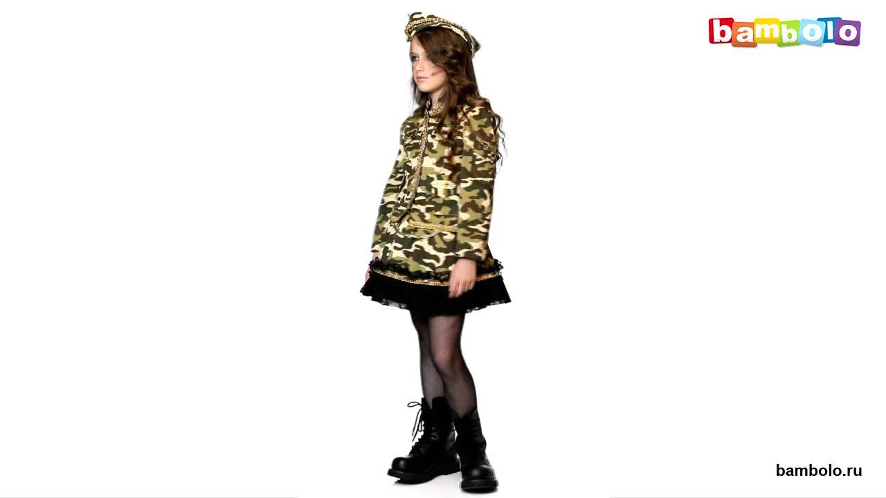 Детский карнавальный костюм военной