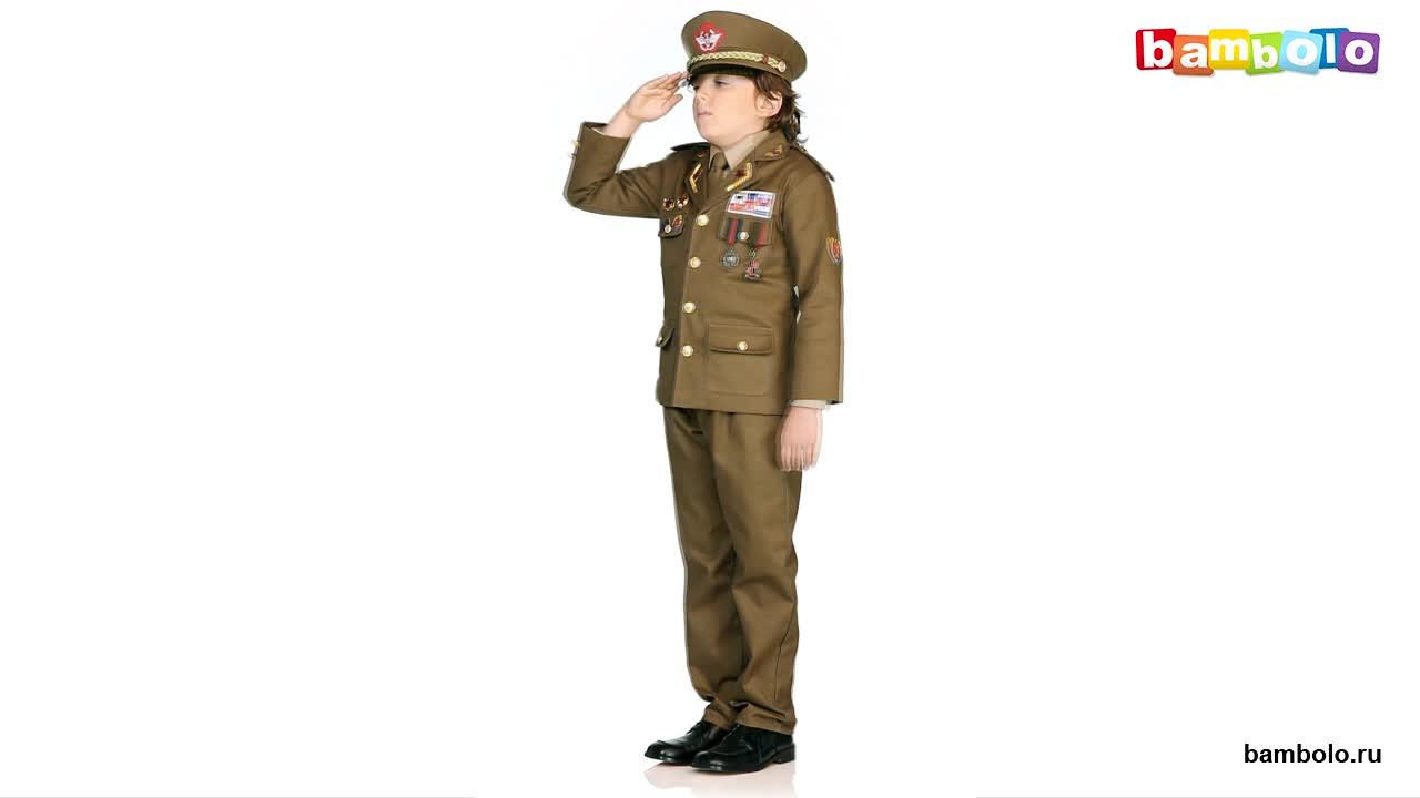 Детский карнавальный костюм военного генерала
